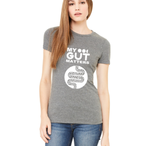 My Gut Matters Female T-Shirt Grey-White
