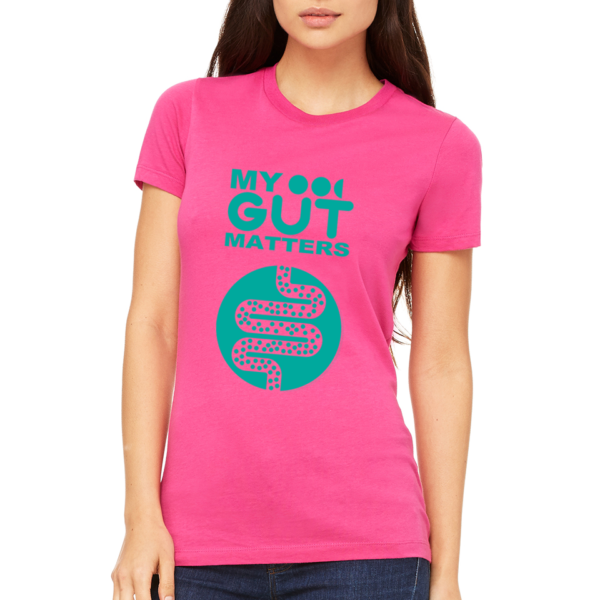 My Gut Matters Female T-Shirt Pink-Aqua